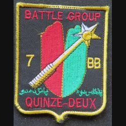 152° RI : insigne tissu Battle group du 152° régiment d'infanterie sur scratch