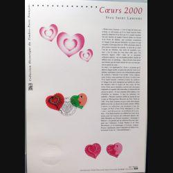Document philatéliques officiels la poste Coeurs 2000 Yves Saint Laurent