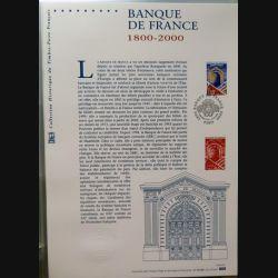 Document philatéliques officiels la poste Banque de France 1800-2000