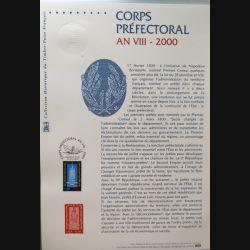 Document philatéliques officiels la poste Corps préfectoral An VIII 2000