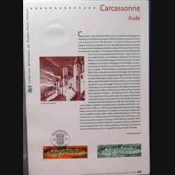 Document philatéliques officiels la poste Carcassonne Aude