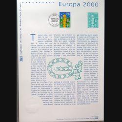 Document philatéliques officiels la poste Europa 2000