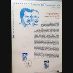 Document philatéliques officiels la poste Conquête de l'Annapurna 1950
