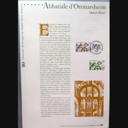 Document philatéliques officiels la poste Abbatiale d'Ottmarsheim Haut-Rhin