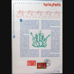 Document philatéliques officiels la poste Folklores