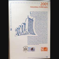 Document philatéliques officiels la poste 2001 Nouveau millénaire