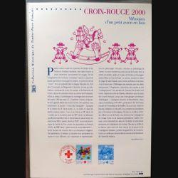Document philatéliques officiels la poste Croix Rouge 2000