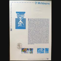 Document philatéliques officiels la poste 3° Millénaire