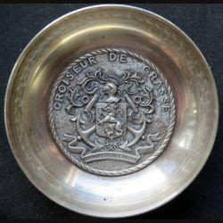Coupelle métallique argentée du Croiseur de Grasse fab Augis