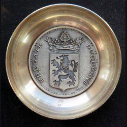 Coupelle métallique argentée de la Frégate Duquesne fab Augis