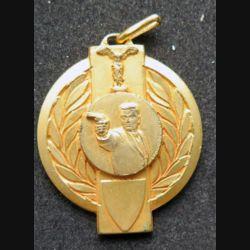médaille dorée de tir du championnat de l'Ouest 1966 vétéran attribuée à R. Le Doaré.