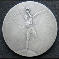 médaille en bronze argenté de l'Union des sociétés de tir de France fondée le 3 juin 1886