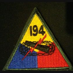USA : 194° Armored division US army patch