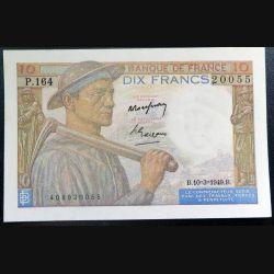 FRANCE : billet de banque de 10 Francs Mineur 10 mars 1949 alphabet P.164