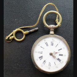 MONTRE : montre à gousset Cytinore 10 rubis à remontoir avec clé en argent