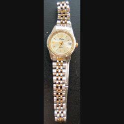 MONTRE : montre femme Domi bracelet doré et argenté