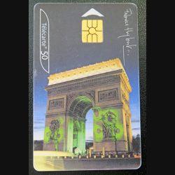 télécarte 50 unités France télécom Arc de Triomphe Paris