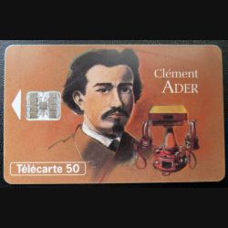 télécarte 50 unités Clément Ader France télécom
