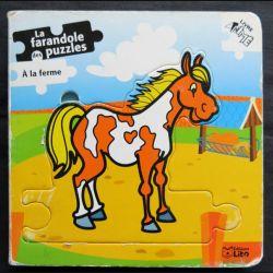 La Farandole de puzzles A la ferme écrit par Katrien Goossens aux éditions Lito
