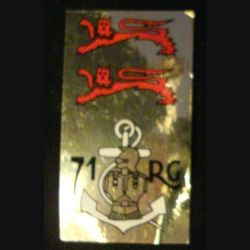 71° RG : autocollant du 71° régiment du génie