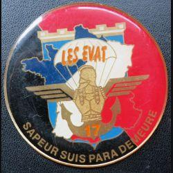17° RGP : médaille plaque de 7,3 cm Les EVAT sapeur suis para demeure