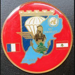 17° RGP : médaille plaque de 6,5 cm 55° mandat au Liban