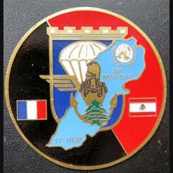 17° RGP : médaille plaque de 7,3 cm 55° mandat au Liban