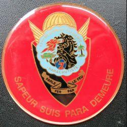 17° RGP : médaille plaque de 7,2 cm de la 2° compagnie de combat
