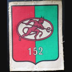 152° RI : insigne tissu imprimé 11 x 8,5 cm du 152° régiment d'infanterie