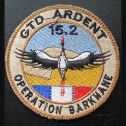 152° RI : insigne tissu GTD ardent 15.2 Régiment d'infanterie opération Barkhane sur scratch