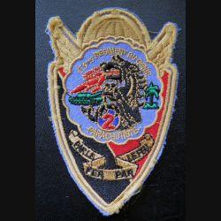 17° RGP : insigne tissu 11 x 7 cm de la 2° compagnie de combat du 17° RGP