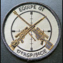 17° RGP : insigne tissu basse visibilité 8 cm de la 5° compagnie de combat équipe OT du 17° RGP sur scratch