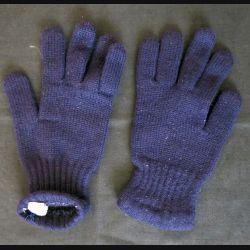 Paire Gant laine bleue troupe de montagne traité antimites taille 8 - 8 et 1/2 (Neuf)
