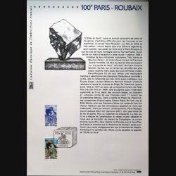Document philatéliques officiels la poste 100° Paris Roubaix
