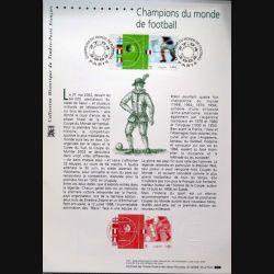 Document philatéliques officiels la poste Champions du Monde de Football
