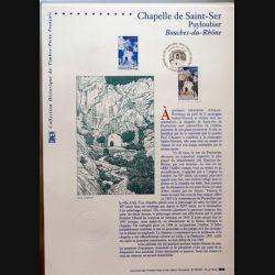 Document philatéliques officiels la poste Chapelle de Saint Ser Puyloubier