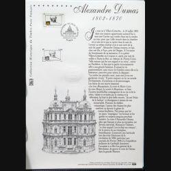 Document philatéliques officiels la Poste Alexandre Dumas 1802 - 1870