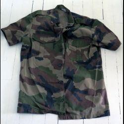 Chemisette de combat vert armé camouflée manche courte taille 39-40
