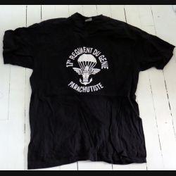 17° RGP : T shirt CCL du 17° RGP noir taille 104