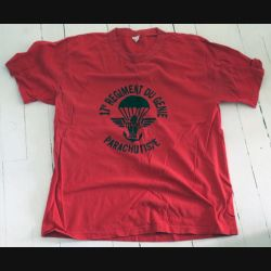 17° RGP : T shirt 2° Compagnie du 17° RGP rouge taille 96