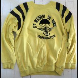 17° RGP : Sweet shirt 3° Compagnie du 17° RGP jaune taille 96 Occasion Bon état