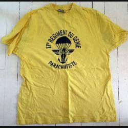 17° RGP : T shirt 3° Compagnie du 17° RGP jaune taille 96 Occasion TBE 100% coton