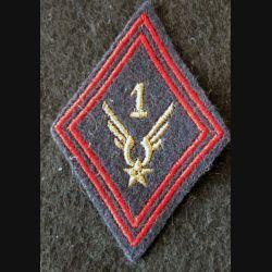 LOSANGE DE BRAS MODÈLE 45 : 1° GHL ALAT INF S/OFF aviation légère de l'armée de terre,  sous-officier de l'Infanterie
