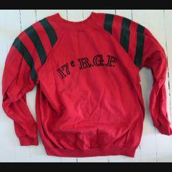 17° RGP : Sweet shirt 2° Compagnie du 17° RGP rouge taille 96 Occasion Bon état