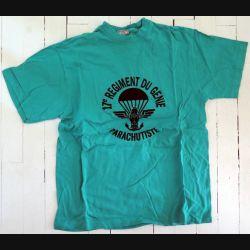 17° RGP : T shirt Compagnie Appui du 17° RGP jaune taille 96 Occasion TBE 100% coton