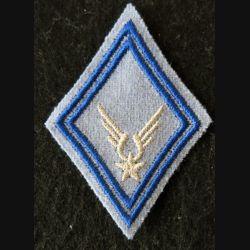 LOSANGE DE BRAS MODÈLE 45 : ALAT EABC sous-officier escadrille EABC fil argenté