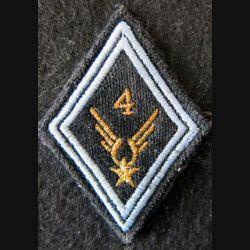 LOSANGE DE BRAS MODÈLE 45 : ALAT 4° GHL modèle sous officier (TRANS) en fil doré