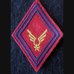 LOSANGE DE BRAS MODÈLE 45 : Modèle sous-officiers du GAOA ALAT (Artillerie) fil de laine