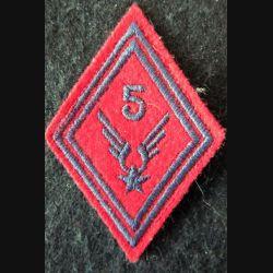 LOSANGE DE BRAS MODÈLE 45 : 5° GAOA ALAT (Artillerie) modèle troupe