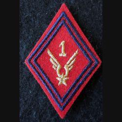 LOSANGE DE BRAS MODÈLE 45 : Modèle sous-officiers du 1° GAOA ALAT (Artillerie) fil doré